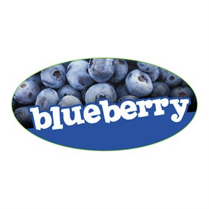 BLUEBERRY FLAVOR LABEL
