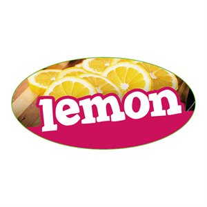 LEMON FLAVOR LABEL