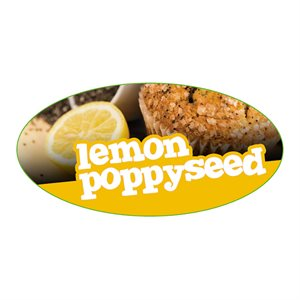 LEMON POPPYSEED FLAVOR LABEL