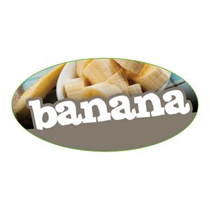 BANANA FLAVOR LABEL